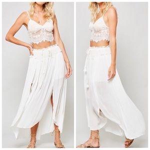 "Dresses & Skirts - •LAST 5 ""Athena"" Double Slit Boho Maxi Skirt"